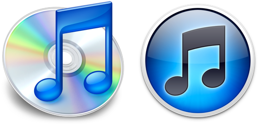 iTunes 9 and iTunes 10 icons