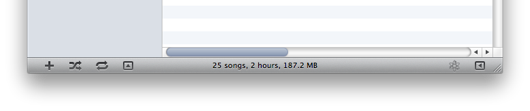 iTunes 10 buttons now look less like buttons