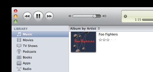 iTunes button changes