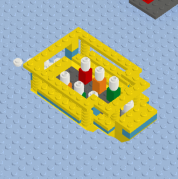 A Lego Viking Tour Bus in Dublin