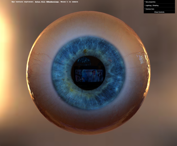 WebGL raytraced eye